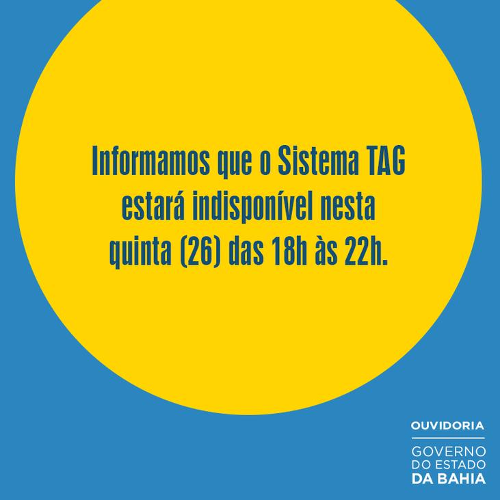 Sistema TAG indisponível