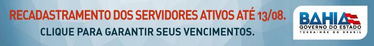 Banner Recadastramento do Servidor