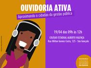 Moradores do bairro de São Gonçalo recebem projeto Ouvidoria Ativa no dia 19 de abril